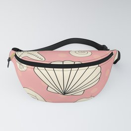 Shells on pink Fanny Pack