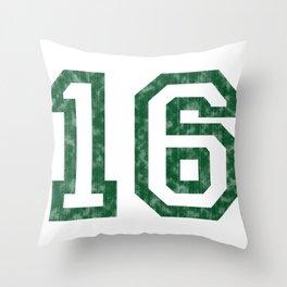 My worn sixteen Throw Pillow