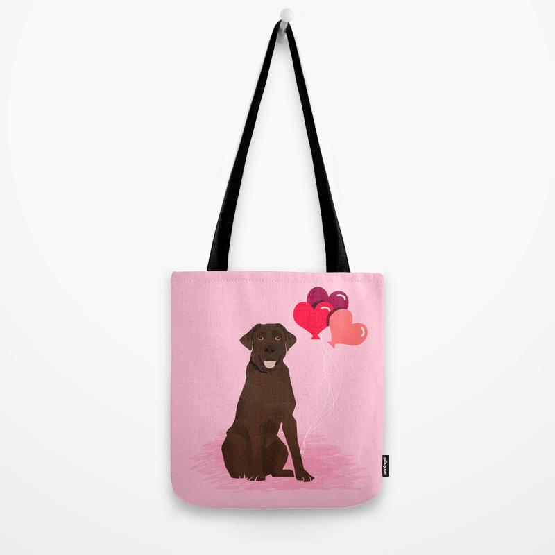 LOVE-ChocolateLab Tote Bag
