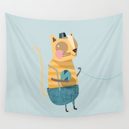Cats love Knitting Wall Tapestry