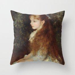 Portrait of Mademoiselle Irène Cahen d'Anvers (Little Irene) Throw Pillow
