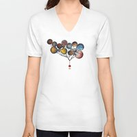 cosmic V-neck T-shirts featuring A Cosmic Incident by Efi Tolia