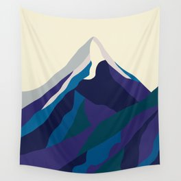 Mount Everest in Blue Wall Tapestry