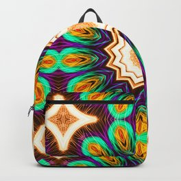 Abstract geometric figure of repetitive shapes. Kaleidoscopic effect Backpack