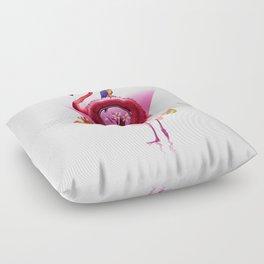 Flamingo Rider Floor Pillow