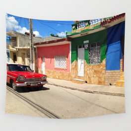 Cars in Cuba Wall Tapestry