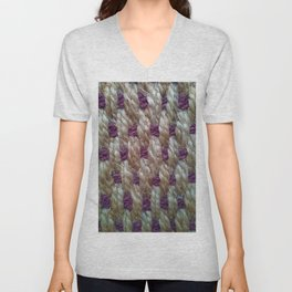 Purple Weaved Unisex V-Neck