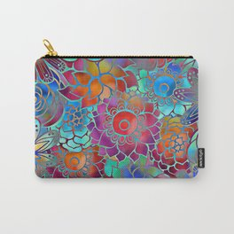 Flowery Summer Pattern Carry-All Pouch