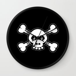 Skull & Bones Tattoo Wall Clock