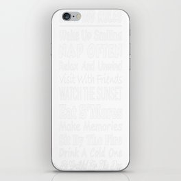 Camping Rules Wake Up Smilimg Nap Often Relax And Unwind Visit W iPhone Skin