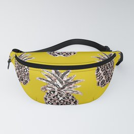 Gold Pineapples on mustard Fanny Pack