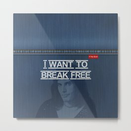 Denim Jeans - I Want To Break Free & F.Mercury Metal Print
