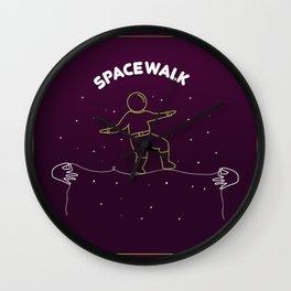 Fantasy Spacewalk Wall Clock