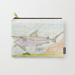 Great White Shark on the Ocean Floor Carry-All Pouch