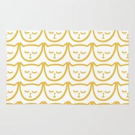 Yellow Cat Pattern Rug