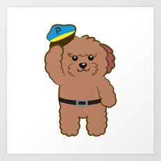 Poodle Police Art Print