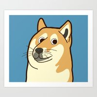doge Art Prints featuring Doge by evannave