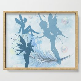 Blue Fairies Playing Serving Tray