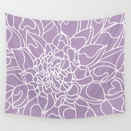 Chrysanthemum Lavender Collection Wall Tapestry