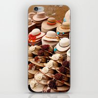 hats iPhone & iPod Skins featuring Hats by Dave Houldershaw
