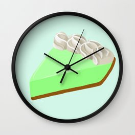 Piece of Key Lime Pie Wall Clock