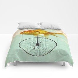 unicycle goldfish Comforters