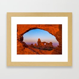 Arches National Park Colorful Morning Landscape Framed Art Print