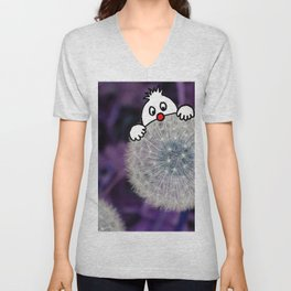 Fly with the dandelion Unisex V-Neck