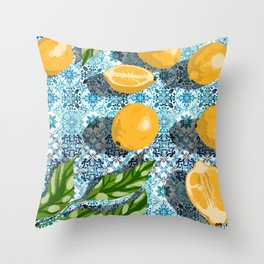 Sweet just isn't as sweet without the sour #painting Throw Pillow