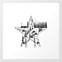 Inktober Star Art Print