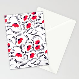 Beauty simple seamless floral pattern swirl Stationery Cards