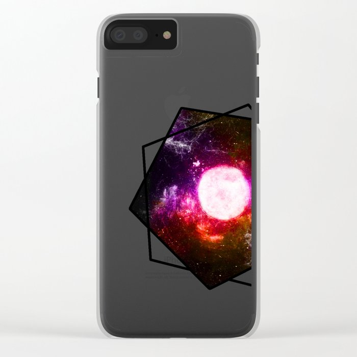 Sacred Moon Clear iPhone Case