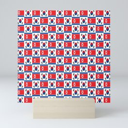 Mix of flag : South and North Korea Mini Art Print