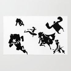 The Avengers Minimal Black and White Rug