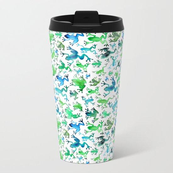 Tree Frogs Metal Travel Mug