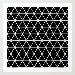 HEX - black & white Art Print