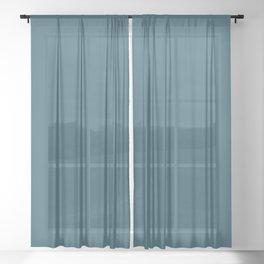 Teal The World (Blue) Sheer Curtain