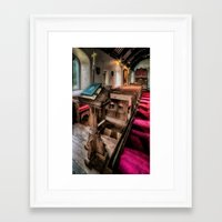bible Framed Art Prints featuring Welsh Bible by Adrian Evans