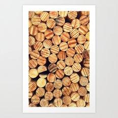 Wooden Circles Art Print