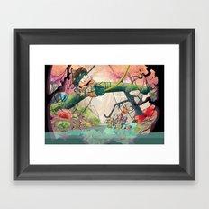 Jungle kid. Framed Art Print