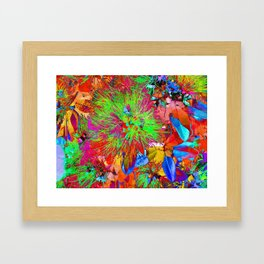 """ Kiwi Lifestyle"" - Pohutukawa NZ Bloom- Pop ART Framed Art Print"