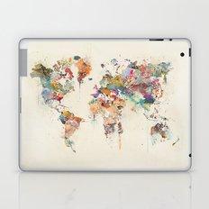 world map watercolour Laptop & iPad Skin