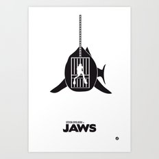 The Black Collection' Jaws Art Print