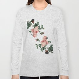 Butterflies in the Rose Garden on White Long Sleeve T-shirt