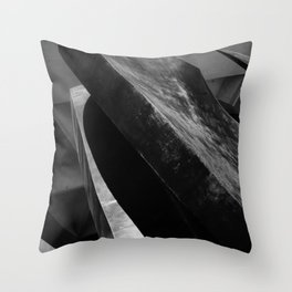 Curves and Angles Throw Pillow
