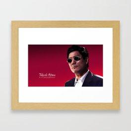 Takeshi Kitano - a filmography cover Framed Art Print
