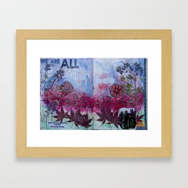 """""""We Are All In This Together"""" Framed Art Print"""