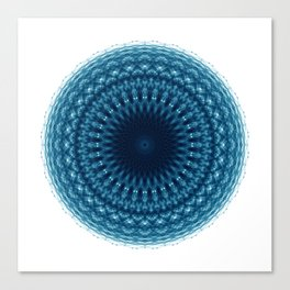 Mandala of Quantum Abundance (blue) Canvas Print