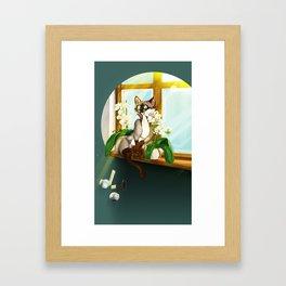 Cat Attitude Framed Art Print