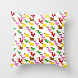 Pixel by pixel – The Birdy Bunch I Throw Pillow
